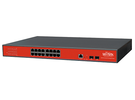 Wi-Tek WI-MS318GF Gigabit Switch (16 GE + 2 SFP)