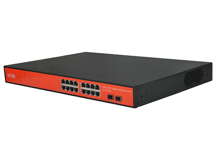 Wi-Tek WI-PS318GF Gigabit Switch PoE (200W, 16 PoE + 2 SFP)